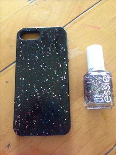 Diy phone case using nail polish