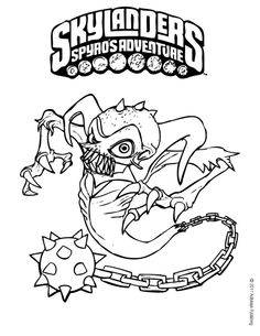 ghost roaster skylander coloring page