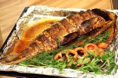 Запеченная в фольге рыба с медом