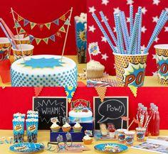Super hero kinderfeestje ! alle Benodigdheden voor de aankleding van een leuk kinderfeestje gespot op: http://www.zook.nl/kinderfeestje-5-jaar-thuis-organiseren-tips
