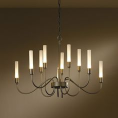 "Hubbardton Forge - Lisse 10 Light Chandelier, 28.3""D X 17.6""H"