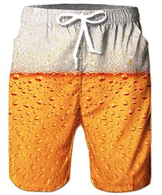 Craft Beer Gifts for Him Funny Swim Trunks, Jogger, Beach Pants, Hawaii Surf, Beachwear, Swimwear, Swimsuits, Beer Humor, Printed Tank Tops