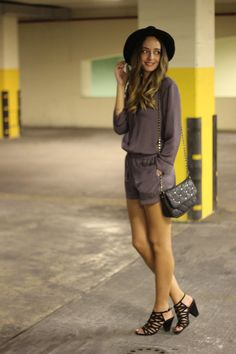 Bianca From The Fashion Carousel. Fashion, Outfit, playsuit, Zara, Boho, Hat, Fedora, OOTD, jumpsuit, silk