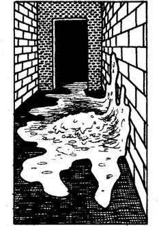 Ochre jelly, a giant amoeba that scours the dungeon for flesh and cellulose to devour (AD&D Monster Manual, TSR, 1977.)
