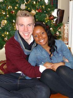 Beautiful interracial couple celebrating the Christmas holiday #love #wmbw #bwwm