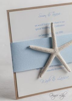Beach Wedding Invitation DIY Kit Reef
