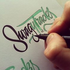 gedpalmer:  Building brush scripts #lettering #logotype