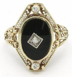K Letter In Diamond Ring ... Diamond Ring listed on eBay by vantagevintage. Via Diamonds in the