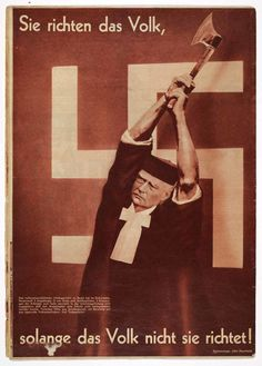 "AIZ, cover by John Heartfield. ""They judge the people as long as the people do not judge them! Aragon, Photomontage, John Heartfield, Hans Richter, Francis Picabia, Nazi Propaganda, Moholy Nagy, Arabian Art, Alfred Stieglitz"