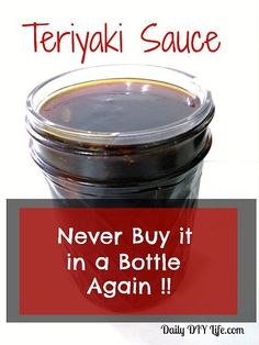 buy Teriyaki sauce in a bottle again Never Buy Teriyaki Sauce From a Bottle Again! Daily DIY ()Never Buy Teriyaki Sauce From a Bottle Again! Best Teriyaki Sauce, Homemade Teriyaki Sauce, Homemade Sauce, Teriyaki Marinade, Gluten Free Teriyaki Sauce, Chicken Teriyaki Sauce, Chicken Stir Fry Sauce, Teriyaki Glaze, Homemade Apple Cider