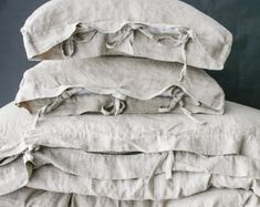 LINEN DUVET COVER set of duvet cover and pillowcases by mooshop
