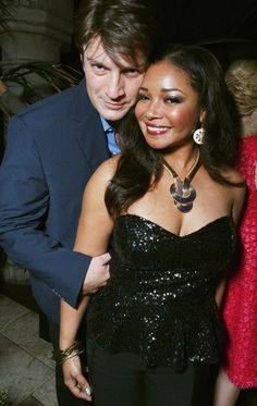 Castle Photo: Actors Nathan Fillion and Tamala Jones attend the Entertainment Weekly Pre-SAG Party