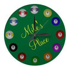 Billiard Ball Wall Clock