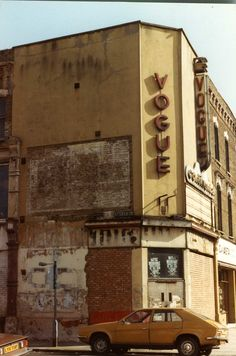 The Vogue Cinema, Stoke Newington. Vintage London, Old London, East London, North London, Abandoned Buildings, Abandoned Places, Old Pictures, Old Photos, London History