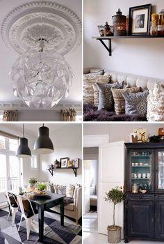 Vintage  Chic  Blog decoracin  Tienda  Ideas deco y mucho vintage: Un piso en Oslo con mucho gris  An apartment in Oslo