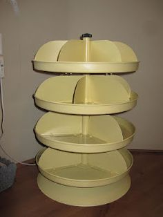 jewelry or desktop storage from a Harbor Freight revolving tool storage bin