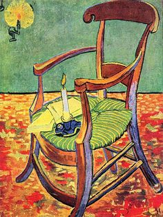 Canvas. Paul Gauguin's Chair by Van Gogh