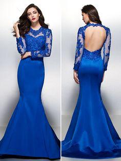 17 mejores imágenes de 23 Vestidos de fiesta color azul rey  46d0c4f0583