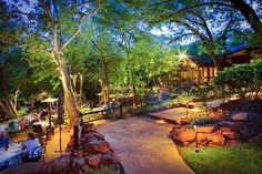 Creekside Path and Restaurant, L'Auberge de Sedona, the most most most amazing food, views, and ambiance!