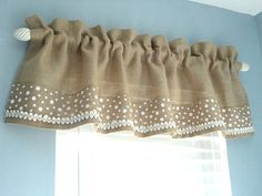 Burlap Valance Window Valance Housewares Window Treatment | Etsy