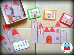 Castle building puzzles Jolien in the classroom The toddlers build the right castle by Kasteel Kindergarten Teachers, Elementary Teacher, Chateau Moyen Age, Busy Boxes, Dragon Birthday, Knight Art, Craft Activities, Nursery Rhymes, Kids Learning