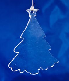 Blank Clear Acrylic Christmas Ornament Christmas Tree pattern two, 4 x 3.25 inches set of 10 on Etsy, $15.00