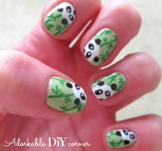 never say NO to panda :) cute nail art // adorkable DiY corner
