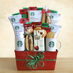 Holiday Starbucks Gift Basket.