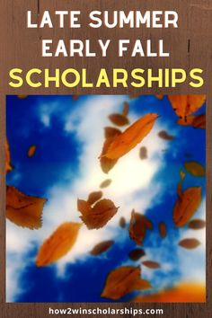 There are many scholarships with late summer and early fall deadlines that students are unaware of and don't bother applying for. Save this list from the #ScholarshipMom at how2winscholarships.com and apply NOW!  #college #scholarships #scholarshiptips #payingforcollege #collegecash #education #university #highered #scholarship #highschool #moneyforschool #collegebound #debtfree #financialaidforcollege #teens #fallscholarships #augustscholarships #septemberscholarships Best College Dorms, College Tips, College Fun, Financial Aid For College, College Planning, High School Hacks, School Tips, Easy Scholarships, College Application