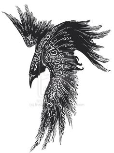 Complete Celtic Raven Tattoo Design -Read Complete Celtic Raven Tattoo Design - Raven tattoo Tribal Crow Tattoo Design More New Tattoo Feather Geometric Design Ideas Thousands ideas which viking tattoo to choose and what is its meaning Getting a Vikin. Hugin Munin Tattoo, Fenrir Tattoo, Jormungandr Tattoo, Celtic Raven Tattoo, Norse Tattoo, Celtic Tattoos, Viking Rune Tattoo, Tattoo Symbols, Viking Tattoos For Men