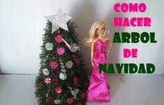 COMO HACER ARBOL DE NAVIDAD  PARA MUÑECAS.how to make Christmas tree for the dollhouse