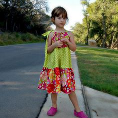 Tiered pillowcase style dress tutorial