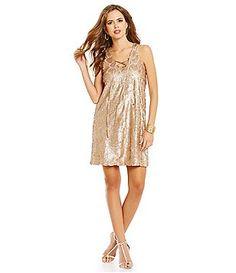 5722287d Gianni Bini Social Lance Lace-Up Neck Sleeveless Sequin Dress Gianni Bini, Sequin  Dress