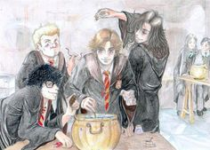 Potions Class by Manechan by HogwartsArt on deviantART The Marauders