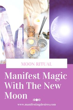 New Moon Rituals, Full Moon Ritual, New Moon Full Moon, Spiritual Manifestation, Moon Spells, Let It All Go, Create Your Own Reality, Meaningful Life, Setting Goals