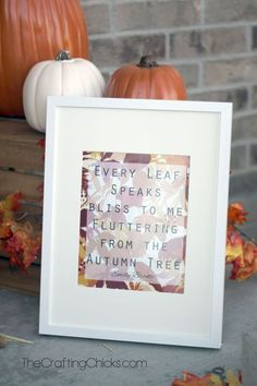 Every Leaf Fall Printable. I saw this quote and I just loved it. Its a great free printable to display in your home to remind you of the beauty of fall. Thanksgiving Poems, Free Thanksgiving Printables, Thanksgiving Table, Autumn Trees, Autumn Leaves, Fall Crafts, Diy Crafts, Seasonal Decor, Fall Decorations