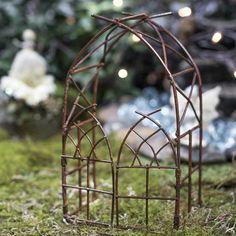 Miniature Rusty Fairy Garden Arch