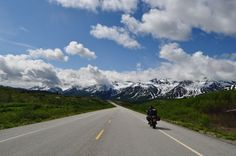 Motorcycle trip to Alaska and back - this is riding to Haines.  I am pictured.