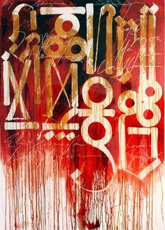 RETNA (American, b.1979) ... street artist and painter, Los Angeles