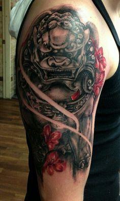 Female Foo Dog Tattoo Designs foo dog tattoo cool tats pinterest foo ...