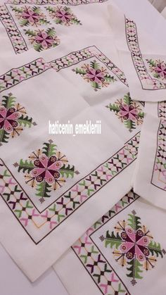 Cross Stitch Embroidery, Hand Embroidery, Embroidery Designs, Cross Stitch Heart, Cross Stitch Flowers, Modern Cross Stitch Patterns, Cross Stitch Designs, Palestinian Embroidery, Wedding Gift Wrapping
