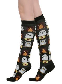 Harry Potter Hedwig And Friends Knee Socks,