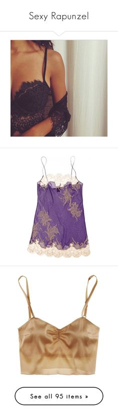 """Sexy Rapunzel"" by love-ana ❤ liked on Polyvore featuring instagram, pictures, pictures for sets - instagram, intimates, chemises, lingerie, pajamas, underwear, lace chemise and purple lingerie"