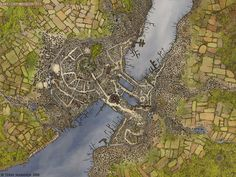 Aerius (Terry Maranda) is an industry pro who draws for White Wolf magazine. His city map of Carthusal is magnificent, not just for the city itself but its surroundings