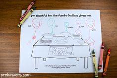 Thanksgiving Activity for Christian Preschools