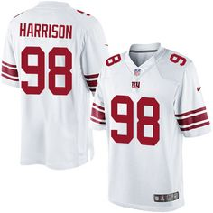 Youth Nike New York Giants #98 Damon Harrison Limited White NFL Jersey