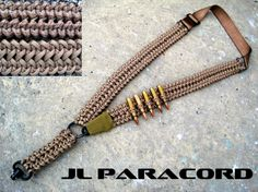 Custom Single/Dual Point Adjustable Rifle Sling In Copperhead/Tan 550 Paracord Double Wide Jawbone Stitch. Push Button QD and HK Hook Attachments, Heavy Duty Nylon Webbing, All Steel Hardware, Built-In 5 Round 5.56/.223 Ammunition Carrier. $55.50 Shipped. Contact For Custom Orders jlparacordgear@gmail.com