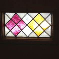 Keep out those Peeping Toms.  DIY stained glass windows on the front door. Buy the kit at Michaels along with the premade piping.