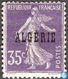Algeria - Sower, with overprint 1924