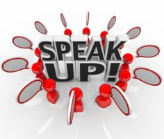 Great ideas can only be shared if people speak up.
